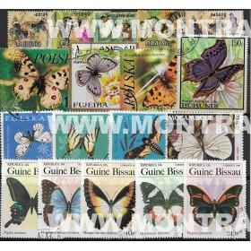 Borboletas Pack 100 selos...