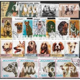Cães Pack 100 selos usados...