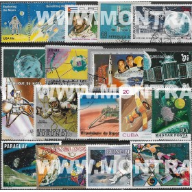 Astronomia Pack 50 selos...
