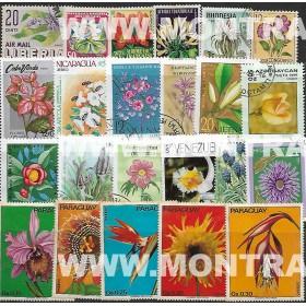Flores Pack 100 selos...